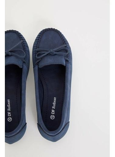 DeFacto Kurdele Detaylı Loafer Ayakkabı Lacivert
